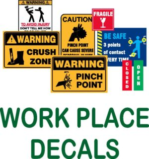 WORK SAFETY DECALS